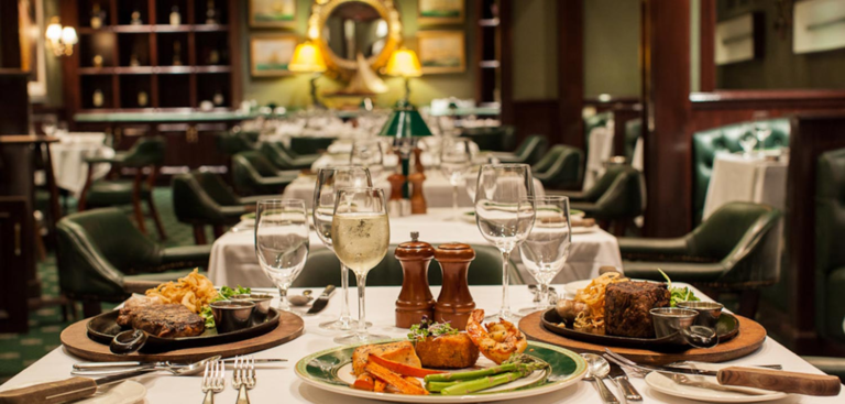 Fine Dining - Food on a table in a restaurant