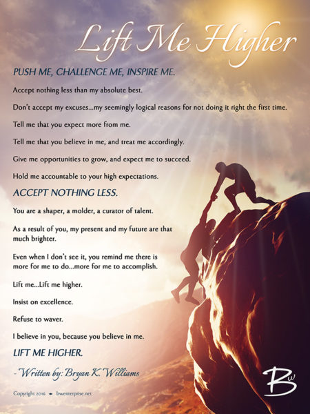 Lift Me Higher Poster - Rock Climbers