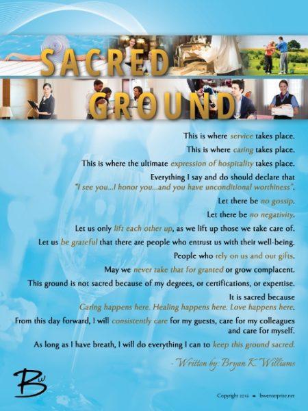 Sacred Ground Hotel Poster