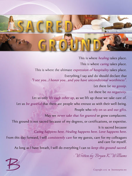 Sacred Ground Spa Poster